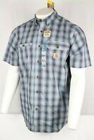 New Carhartt Force Men's Ridgefield Plaid Short Sleeve Shirt 103549 437