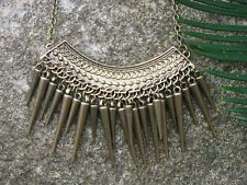 Spike Chunky Tribal Gothic Punk Hippie Vintage Necklace