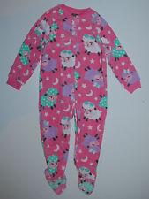 Schlafanzug~USA~98-104~Einteiler~Fleece~rosa~Pyjama  Füßen~Schaf~Reißverschluß