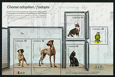 Canada 2636 MNH Pets, Animals, Choose Adoption, Dog, Cat, Bird