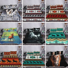 Aztec Horse Retro Blankets for Adult Kid Animal Throw Blanket Bedding Pillowcase