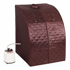 Portable Steam Therapeutic Sauna Spa Weight Fat Loss Burn Full Body Slimming Gym