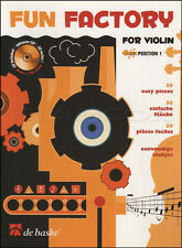 Fun Factory for Violin Sheet Music Book with CD 30 Easy Pieces Position 1