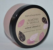 BATH & BODY WORKS ALMOND VANILLA WHIPPED BUTTER NATURAL OIL LOTION CREAM 6.5 OZ