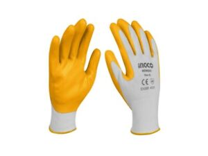 2 Pairs Working Gloves Glooves IN Nitrile Cotton Size L Moltoresistenti