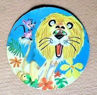 Vintage FOLGERS Coffee Lid Insert Lion and Mouse Paperboard Retro PR-95.002.1