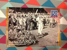 #135 Hank Aaron Braves HOF 5x7 (#/10 made) Gold 2019 Topps 150 Years of Greatest
