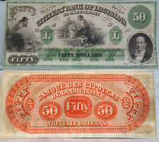 Louisiana , New Orleans  CITIZENS BANK  - UNCIRCULATED remainder  $50 1840-1850