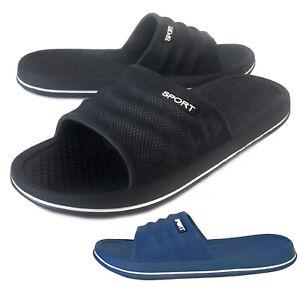 NEW Men's Casual Slip On Sandal Lightweight Rubber Shoe Black Navy Size 7 to 12