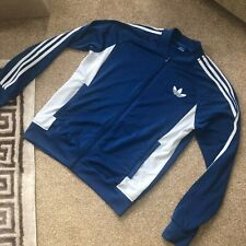 Adidas Originals Firebird Track Top in Blue - Retro 3 stripe tracksuit jacket L