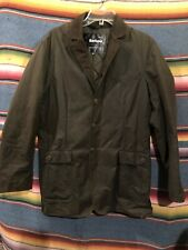 """Men's Barbour """" Lutz """" Olive Green Quilt Lined Waxed Cotton Jacket Size Medium"""