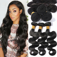 Body Wave Unprocessed Weave Malysiain Virgin Human Hair Extensions 1-4 Bundles