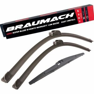 Wiper Blades Aero For Daewoo Musso SUV 1998-2002 FRONT PAIR & REAR