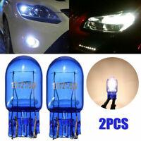 2 pcs Car Bulbs T20 7443 W21/5W White Head Light Lamp Globe Bulb Halogen