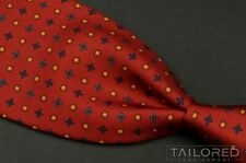 "E.G Cappelli Red Geometric 100% Silk Twill Mens Luxury Tie - 3.625"""