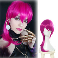 LOL League of Legends KDA Evelynn Long Straight Rose Purple Red Cosplay Wig