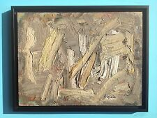 Pierre GOGOIS Tableau Huile HST 1960 signée Art Abstrait Lyrique Pierre Soulages