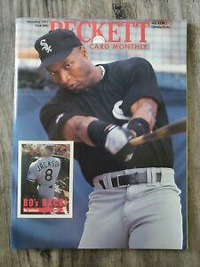 Beckett Baseball Card Monthly - November 1991 - Bo Jackson White Sox