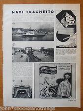 1939 NAVE TRAGHETTO SCILLA E CARIDDI STRETTO DI MESSINA SERVIZIO FERROVIARIA