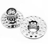 SILVER FLESH TUNNEL EAR PLUG STAINLESS STEEL DEFENDER STRETCHER 10 TYPE 16 SIZES