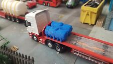 2pk 3D Printed Fuel Bowsers (blue) 1/76. 1/72 Scale And 00 Gauge