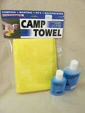 AGS Camp Towel w 2 oz & 4 oz Camp Soap Frag Free Boating Hiking RV's Backpacking