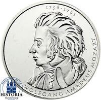Deutschland 10 Euro 2006 Wolfgang Amadeus Mozart bankfrisch in Münzkapsel