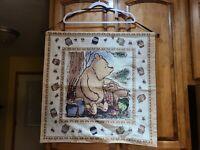 "Winnie The Pooh Hanging Cloth Tapestry 26""x26"" Disney Honey Bees Bear Nursery"