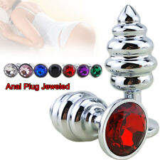 Thread-Anal-Metal-Butt-Plug-Anus-Prostate-Massager-Stopper-Toys-For-Male-Female