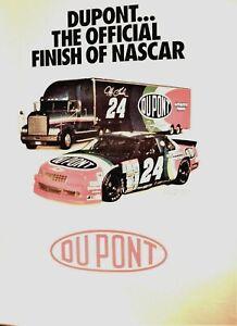 Vintage 1993 NASCAR Jeff Gordon #24 Rainbow Luminia & Hauler DuPont  Poster