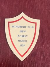 caravan plastic plaque - windrush club . new forest march 1979
