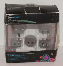 DELL STREAK 5 PIECE REGIONAL INTERNATIONAL PLUG SET USA UK AU CH NEW RIPPED BOX
