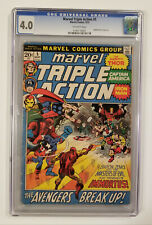 Marvel Triple Action #5 (CGC 4.0! Captain America Pin Up!)