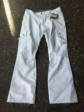 New Womens Burton Lucky TALL Snowboard Pants XLT White NWT