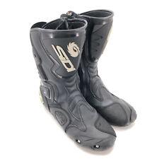 SIDI Motorradstiefel Gr. 46 Motorradschuhe Racing Sport Touring Boots Schwarz
