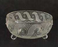 "Vintage Avon Crystal Bowl Dish Glass Footed Trinket Candy Nut 5 1/2"" Diameter"