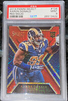 Pop 1!🔥Aaron Donald 2014 PANINI SELECT RED MOJO REFRACTOR /75 #106 PSA 9 BGS
