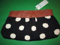 Black and White Polka Dot Knit Clutch by Mud Pie, NWT