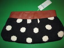 Black and White Polka Dot Knit Clutch by Mud Pie, NWT