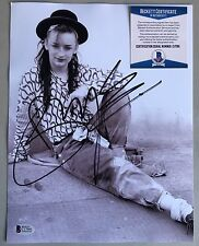 Boy George Signed Photo Culture Club 80s Beckett Certified COA 8.5x11 Gay Int.