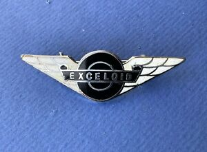 Vintage Exceloid Bus Seats Furniture Buses Coach Transport Wings Staff Pin BADGE