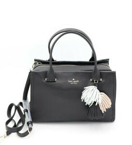NWT Kate Spade New York Palmer Drive Maryam Black Leather Satchel Crossbody Bag