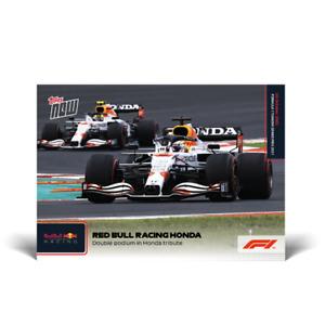 2021 Topps Now F1 #62 Red Bull Double Podium Verstappen Perez Formula 1 PRESALE