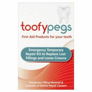 Toofypegs Toofy Pegs Emergency Crown Temporary Repair Kit Lost Fillings Loose