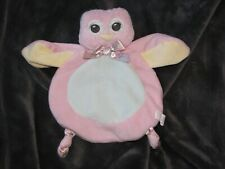 "Bearington Baby Wee Lil' Hoots Plush Owl Security Blanket, Lovey, 8"" x 7"""