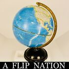 Vintage Rand McNally World Portrait  Globe Metal Base Made in USA Topographic