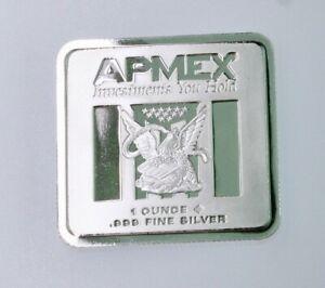 1 Oz. Silver Square Apmex-Geiger Edelmetalle BU .999 bullion #935