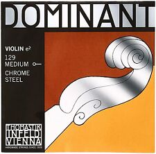 Thomastik Dominant 4/4 Violin E String Medium Chrome Steel Ball End 129 E-Plain