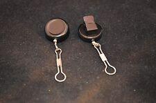 2 ZINGERS/retractors w/clip back- nylon coated wire cord  fly fishing/needlework