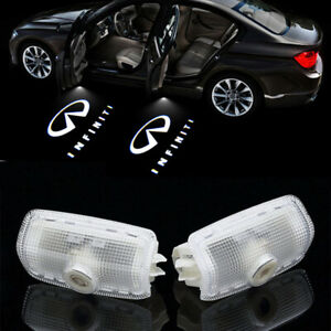 2X Logo Car Door Ghost Shadow Welcome Projector Light For Infiniti G M EX FX